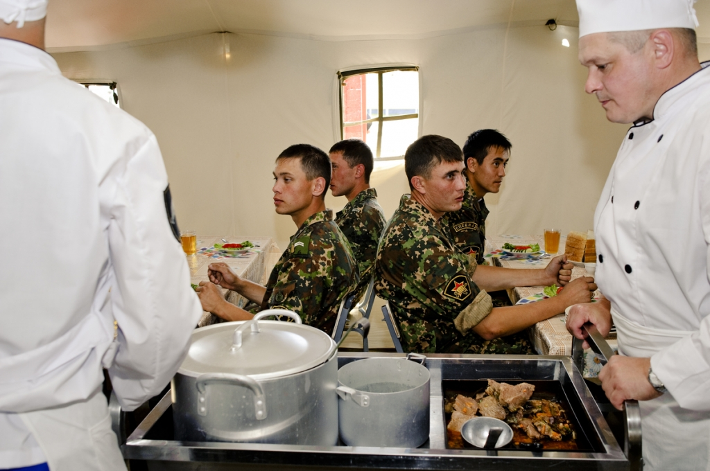 Military cooking contest in Zhornovka, Russia